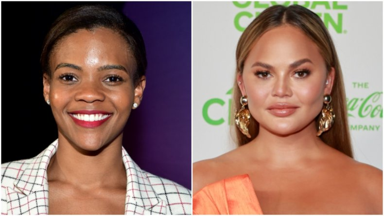 Candace Owens and Chrissy Teigen