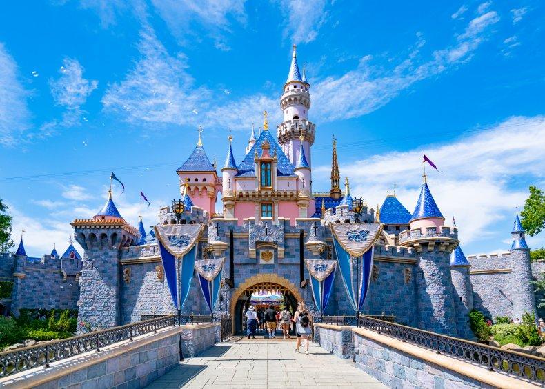 The Sleeping Beauty Castle at Disneyland.