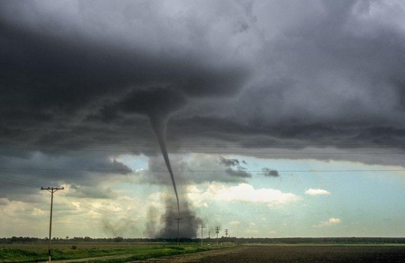 A strong tornado over Colorado.
