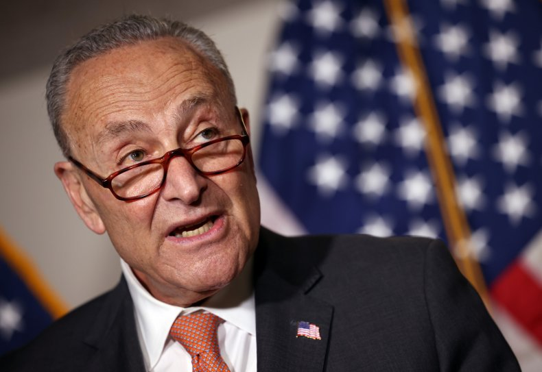 Chuck Schumer Speaks at a Press Conference