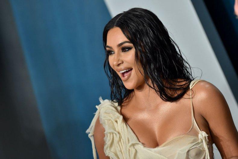 Kim Kardashian at a 2020 Oscars party