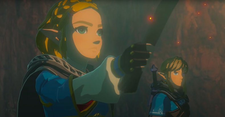 Princess Zelda and Link Explore a Dungeon