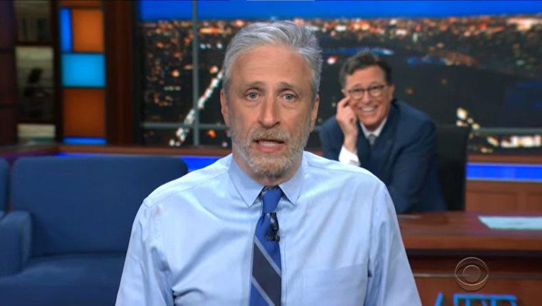 Jon Stewart on Stephen Colbert's show