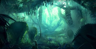 Artwork of a Jungle Planet in Starfield