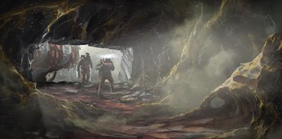 Artwork of a Cave System in Starfield