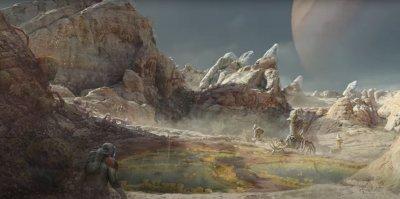 Artwork of an Alien World in Starfield