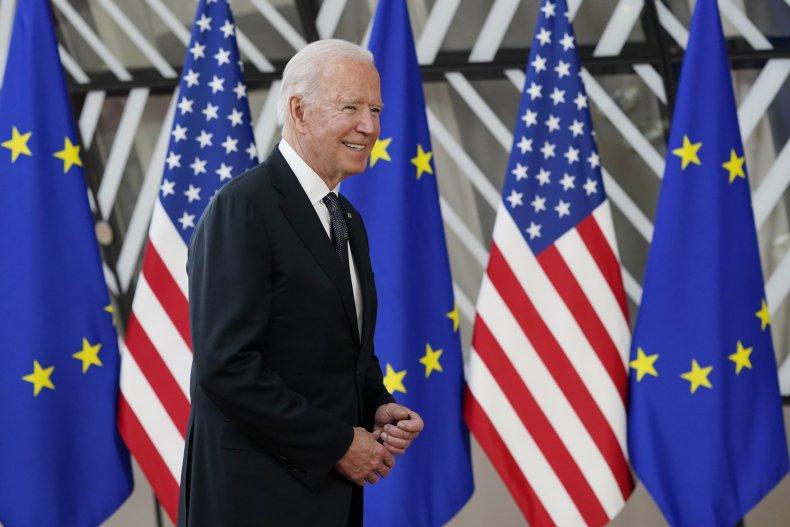 Biden Arrives at US-EU Summit