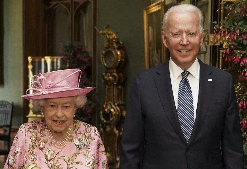 Queen Meets President Joe Biden