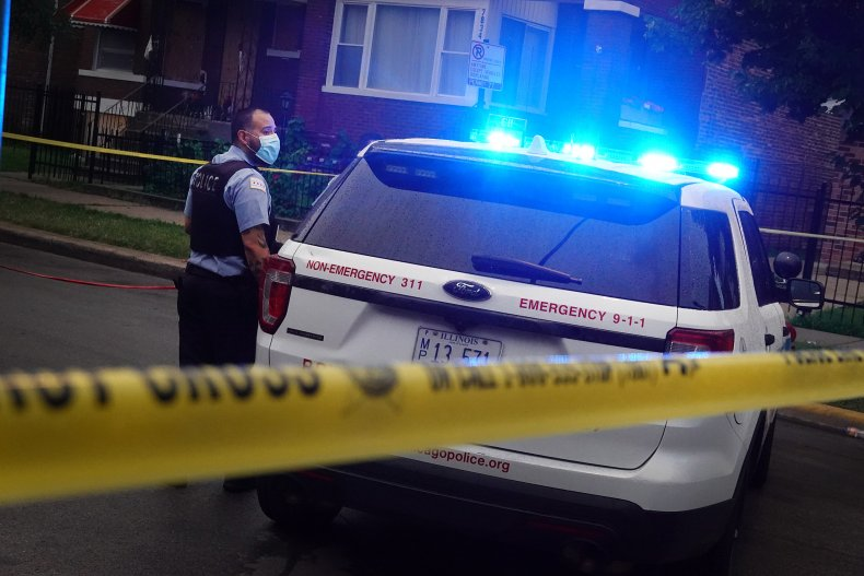 Chicago Police at Mass Shooting