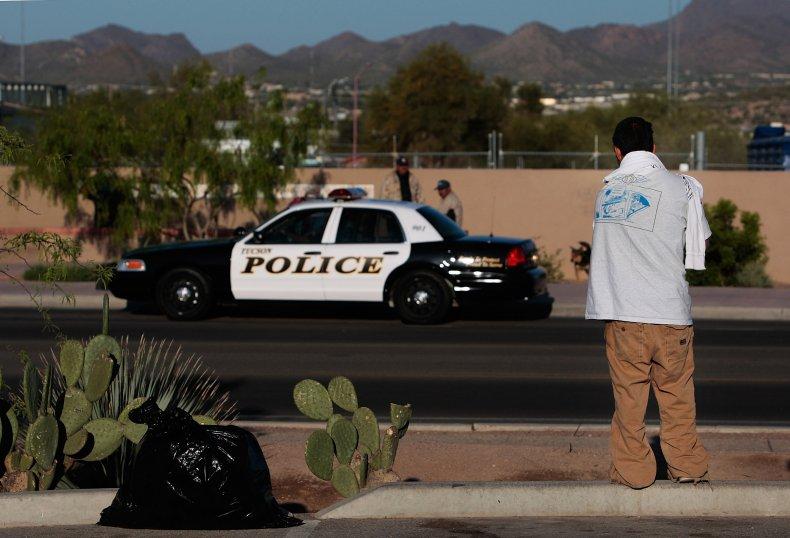 A police car seen in Tuscon, Arizona.