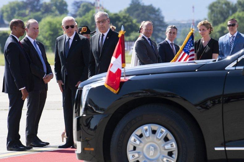 Biden Arrives in Geneva