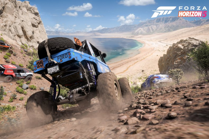 Forza Horizon 5 vehicles beach mountain