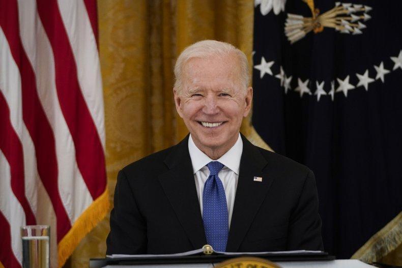 President Joe Biden Smiles