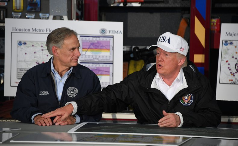 Donald Trump Greg Abbott U.S.-Mexico Border Visit