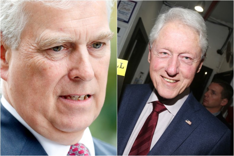 Prince Andrew and Bill Clinton