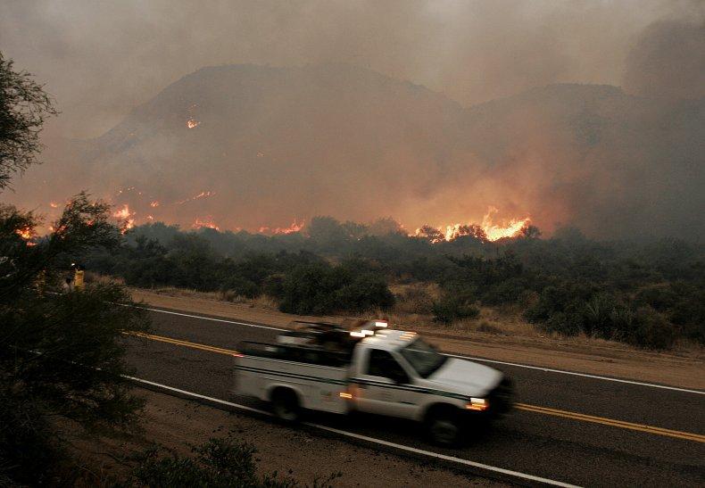 A 2005 wildfire seen in Arizona.