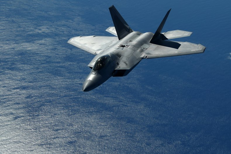 An F-22 Raptor After Refueling