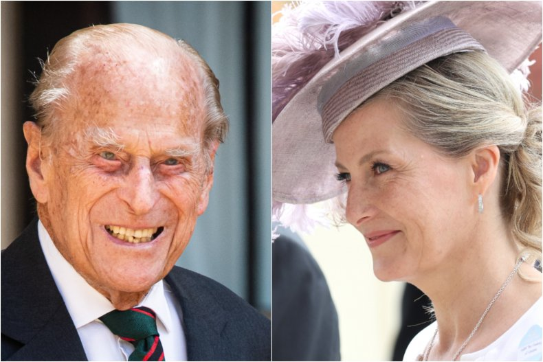 Prince Philip and Sophie Wessex
