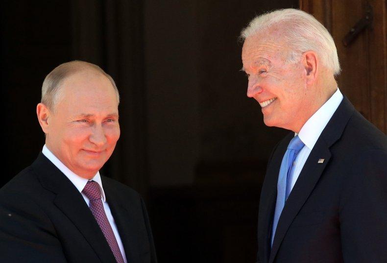 Vladimir Putin Meets Joe Biden in Geneva