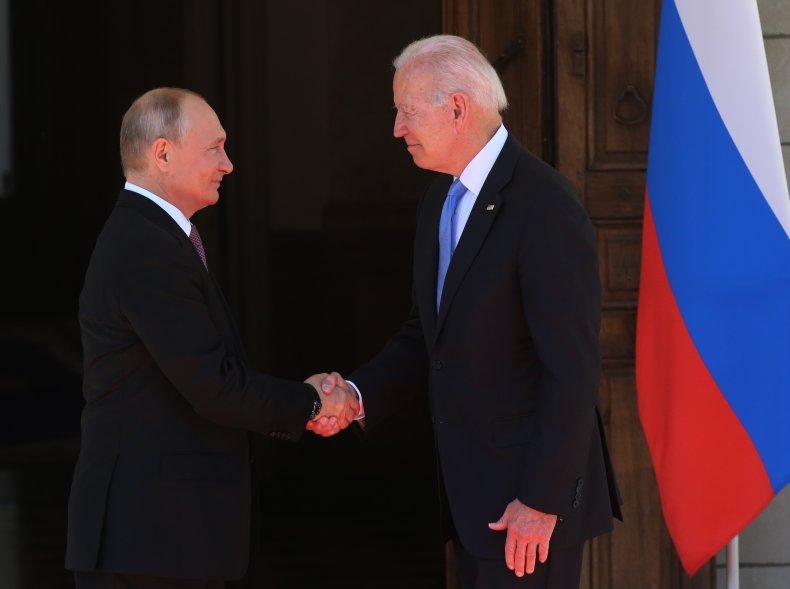 Biden, Putin Summit Handshake