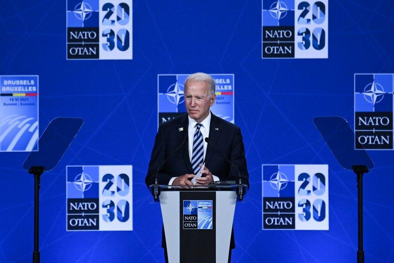 President Joe Biden Addresses NATO Summit Press