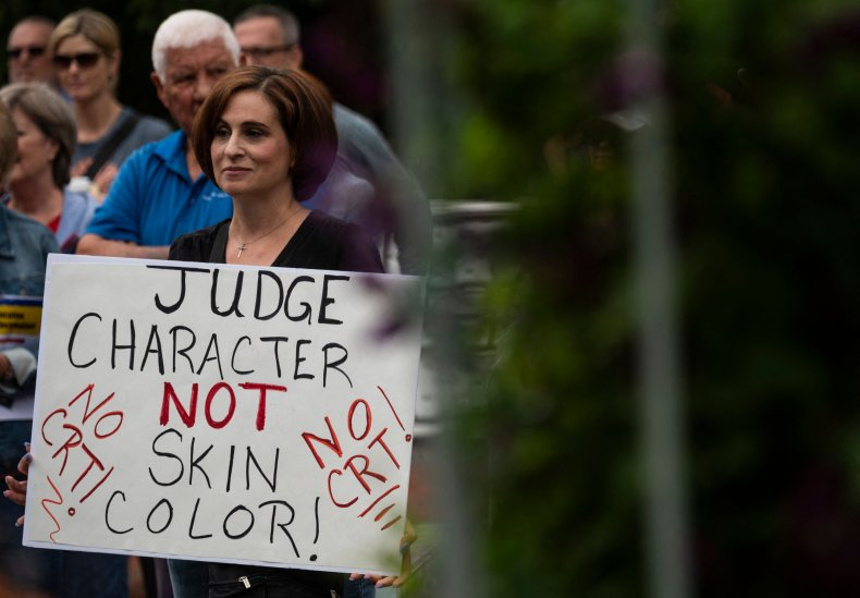 Protestor Against Critical Race Theory