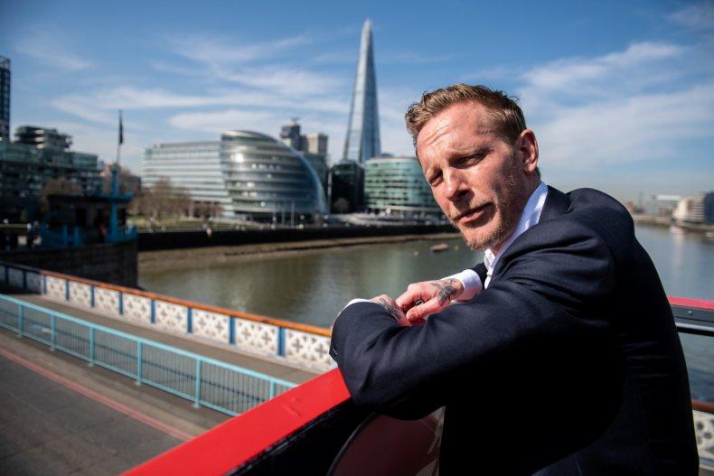 Laurence Fox overlooking London