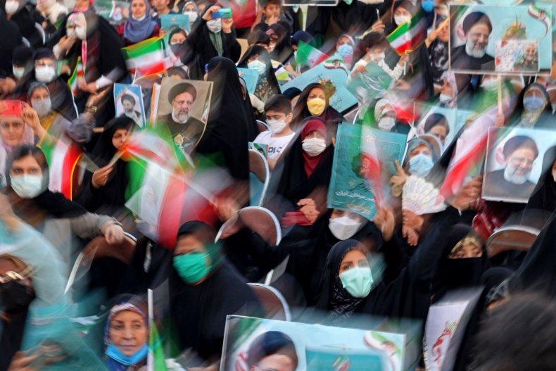 Iran, election, rally, for, Ebrahim, Raisi