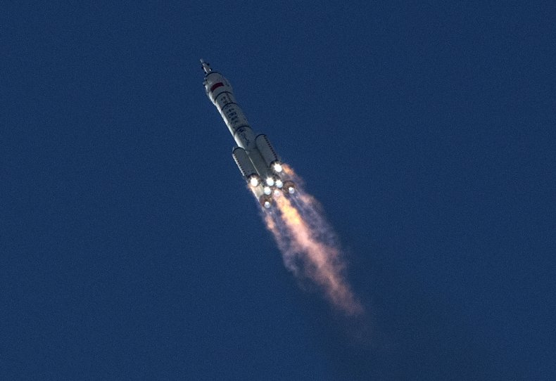 China Sends Manned Mission To Space Station