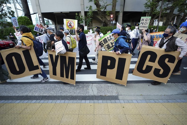 An Anti-Olympics Demonstration in Japan