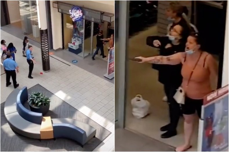 Vancouver Mall gun incident viral video