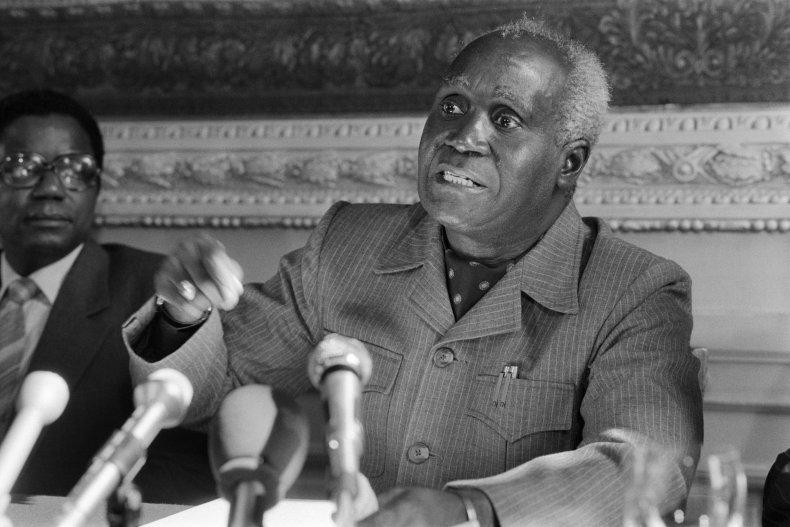 Kenneth Kaunda press conference