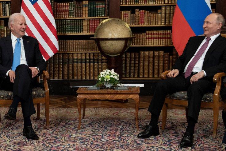 Biden, Putin laughing at summit
