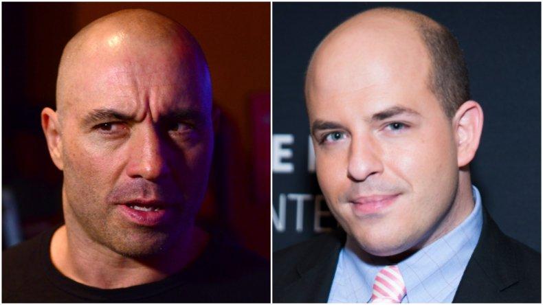 Joe Rogan feuds with CNN's Brian Stelter