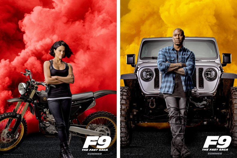 Fast & Furious F9 Rodriguez Tyrese cars