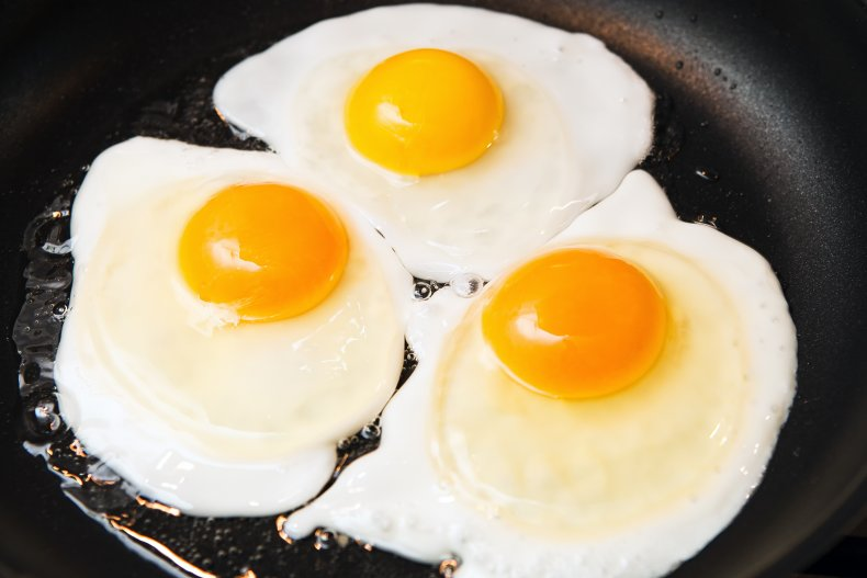 Stock images of fried eggs.
