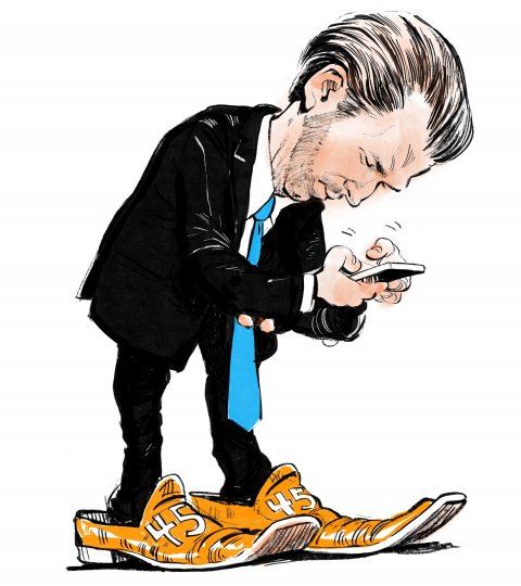 Donald Trump Jr. caricature