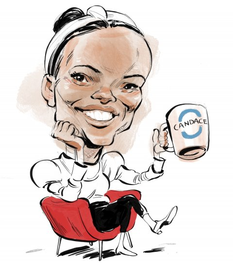 Candace Owens caricature