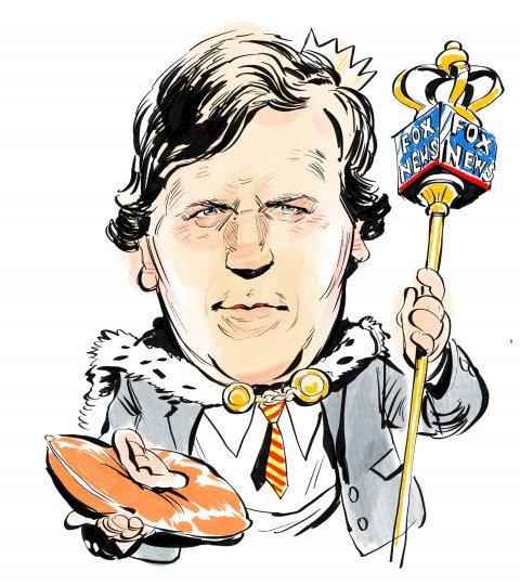 Tucker Carlson caricature
