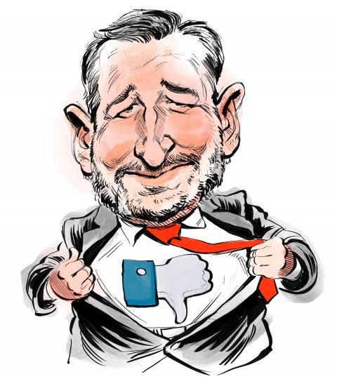 Ted Cruz caricature