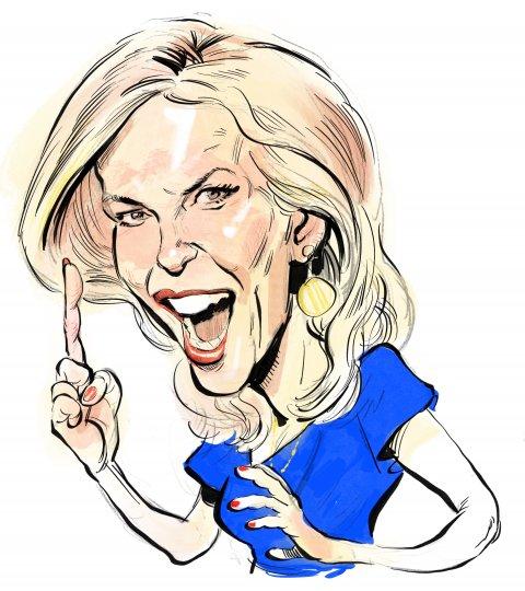 Laura Ingraham caricature