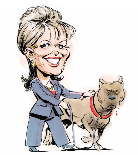 Sarah Palin caricature