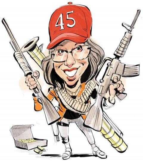 Lauren Boebert caricature