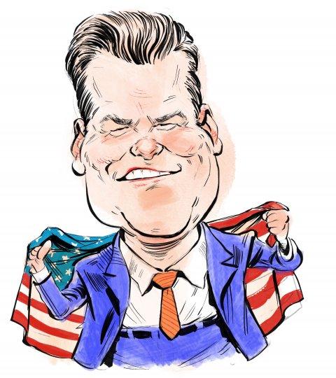 Matt Gaetz caricature