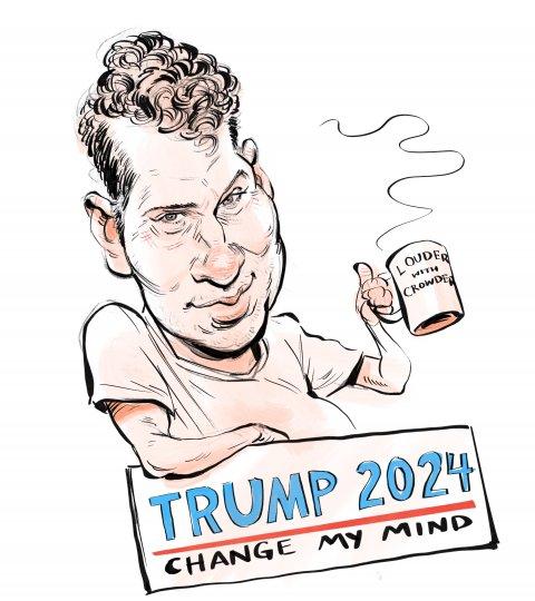 Steven Crowder caricature