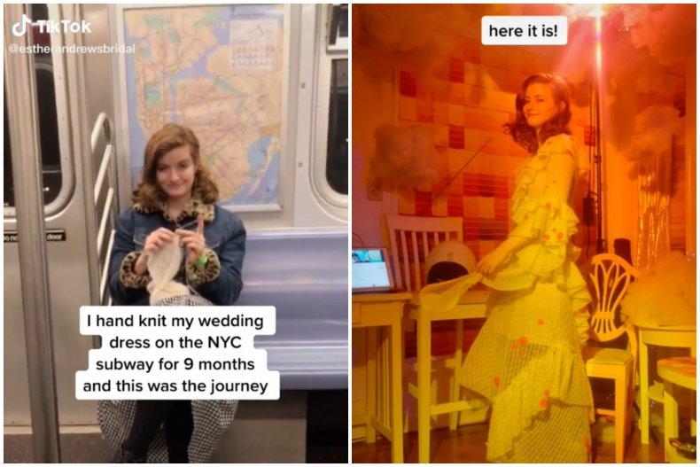 TikTok Knit Wedding Dress