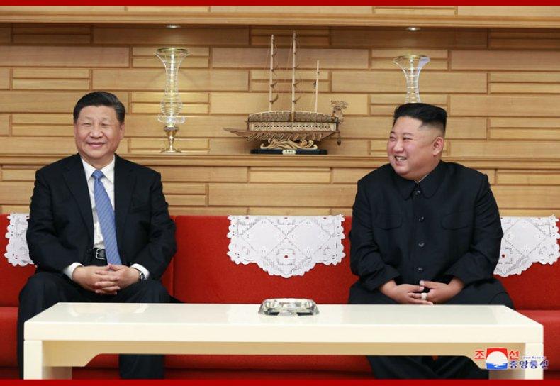 President, Xi, Jinping, meets, Supreme, Leader, Kim