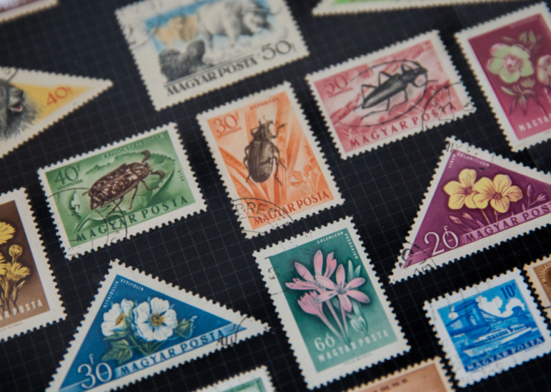 1950s: Avid stamp collector