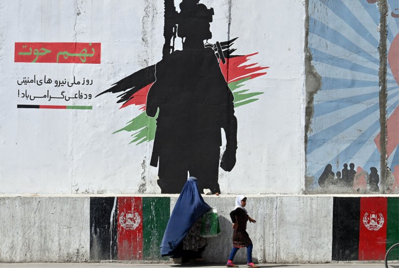 Mural depicting an Afghan National Army soldier