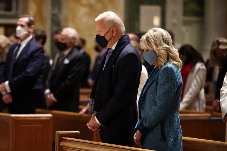 U.S. President Joe Biden at Mass